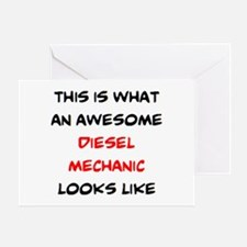 awesome diesel mechanic Greeting Card