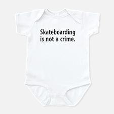 Skateboarding is not a crime Infant Bodysuit