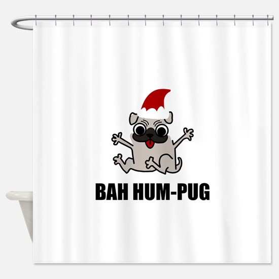Bah Humpug Shower Curtain