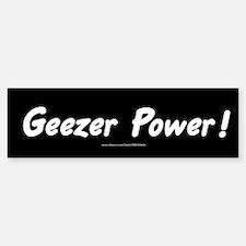 Geezer Power Bumper Bumper Bumper Sticker