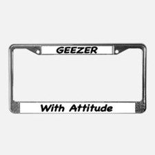 Geezer with Attitude License Plate Frame