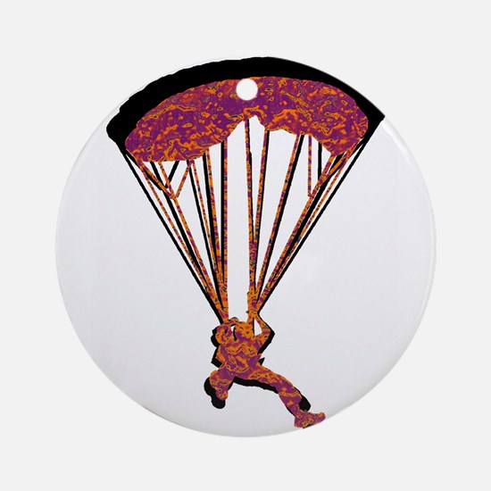 SKYDIVING Round Ornament