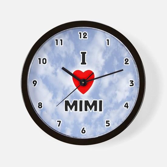 I Love Mimi (Black) Valentine Wall Clock