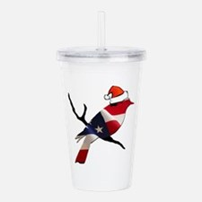 Christmas Bernie Bird Acrylic Double-wall Tumbler