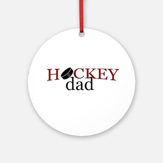 Hockey Dad Round Ornament