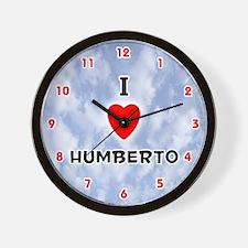 I Love Humberto (Red/Blk) Valentine Wall Clock