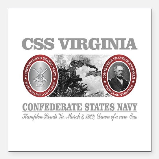 "CSS Virginia Square Car Magnet 3"" x 3"""