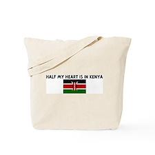 HALF MY HEART IS IN KENYA Tote Bag