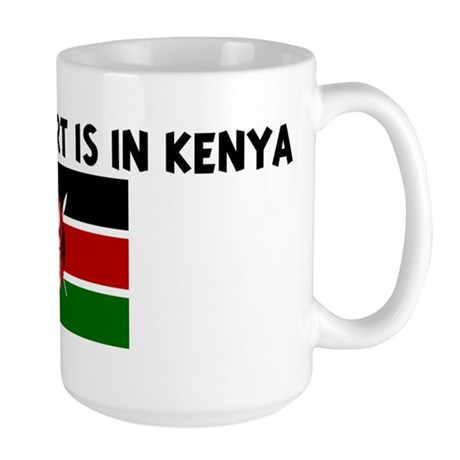 HALF MY HEART IS IN KENYA Large Mug