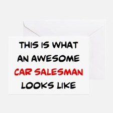 awesome car salesman Greeting Card