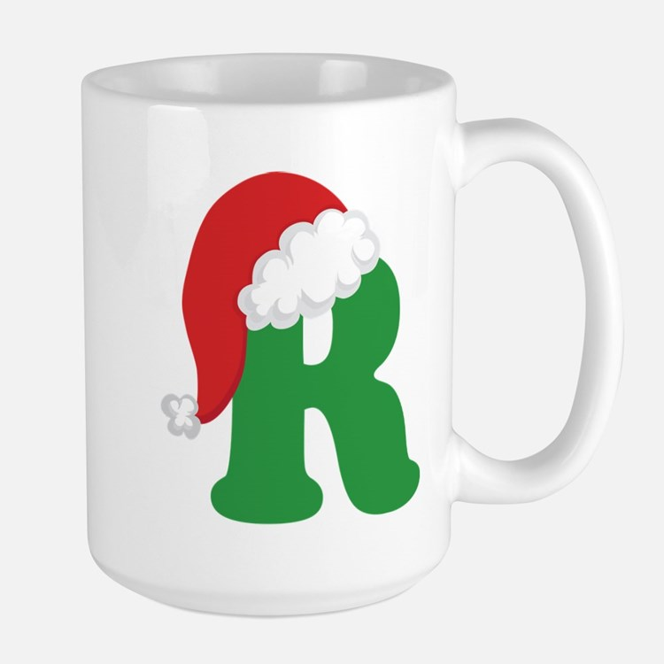 Christmas Letter R Alphabet Mugs