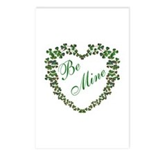 * Irish * Be Mine - Green Postcards (Package of 8)