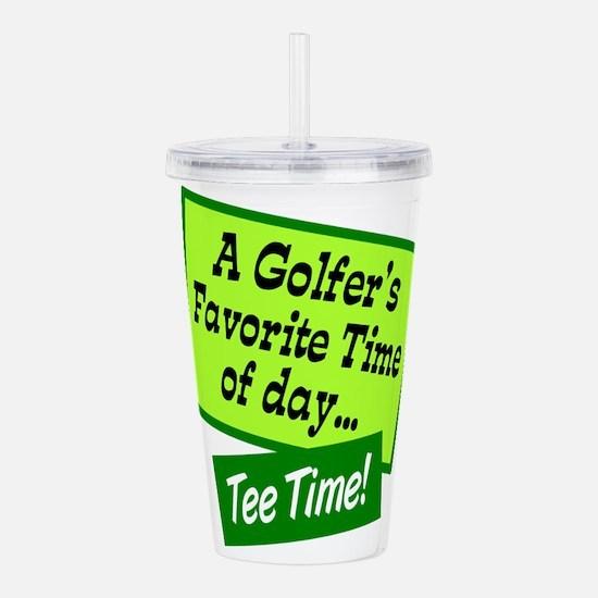 Tee Time Acrylic Double-wall Tumbler