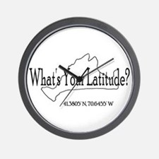 What's Your Latitude? Wall Clock