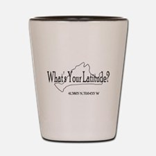 What's Your Latitude? Shot Glass