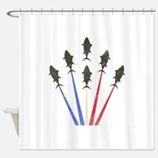Tuna Force Shower Curtain