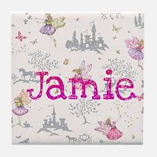 Jamie- unicorn princess Tile Coaster