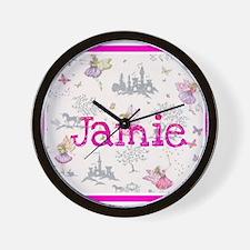 Jamie- unicorn princess Wall Clock