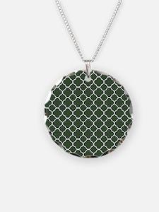 Green, Pine: Quatrefoil Clov Necklace