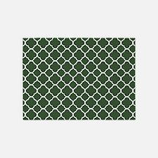 Green, Pine: Quatrefoil Clover Patt 5'x7'Area Rug