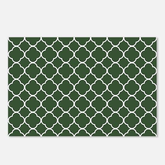 Green, Pine: Quatrefoil C Postcards (Package of 8)
