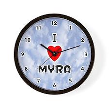 I Love Myra (Black) Valentine Wall Clock