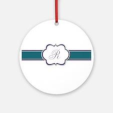 Elegant Monogram by LH Round Ornament