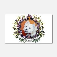 West Highland White Terrier Por Car Magnet 20 x 12