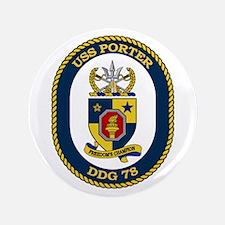 """USS Porter DDG 78 3.5"""" Button"""