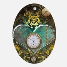 Steampunk, noble design Oval Ornament