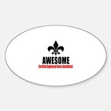 Awesome Certified Registered Nurse Decal