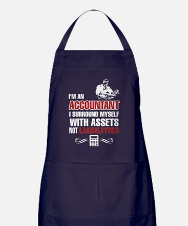 Accountant T Shirt Apron (dark)