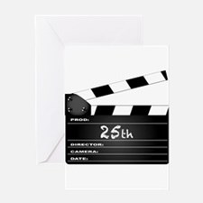 25th Year Clapperboard Greeting Cards