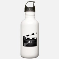 15th Year Clapperboard Water Bottle