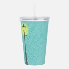 Lamppost In the Rain Acrylic Double-wall Tumbler