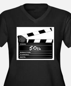 50th Year Clapperboard Plus Size T-Shirt