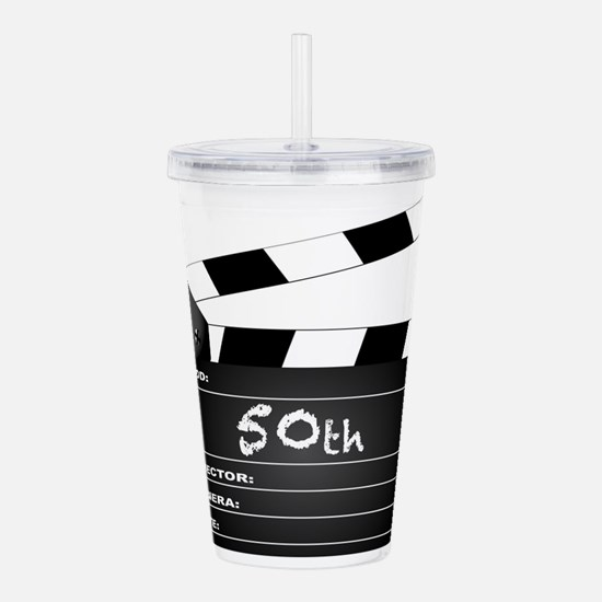50th Year Clapperboard Acrylic Double-wall Tumbler