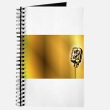 Gold Stage Microphone Background Journal