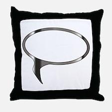 Blank Silver Speech Bubble Throw Pillow