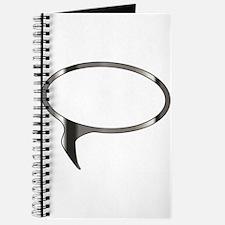 Blank Silver Speech Bubble Journal