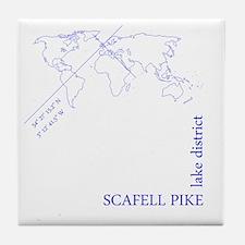 Scafell Pike geocode (blue) Tile Coaster