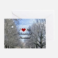 Cute I love my treeing walker coonhound Greeting Card