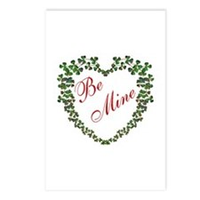 * Irish * Be Mine - Red -  Postcards (Package of 8