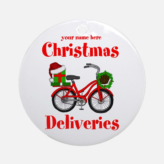 Christmas Deliveries Round Ornament