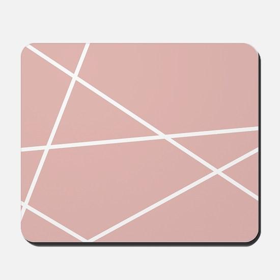 Blush pink Geometric Pattern Mousepad