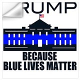 Blue lives matter Wall Decals