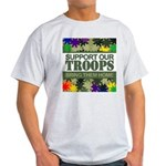 SUPPORT OUR TROOPS - BRING TH Ash Grey T-Shirt