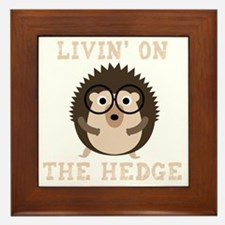 Cute Hedgehog lover Framed Tile