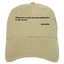 Aristotle Quote on Job Pleasure Baseball Cap