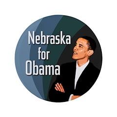 Nebraska for Obama Extra Large Button